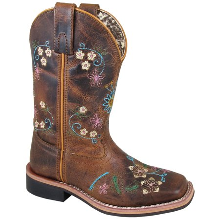 Smoky Mountain Girl's Floralie Brown Leather Cowboy Boot - image 1 of 1