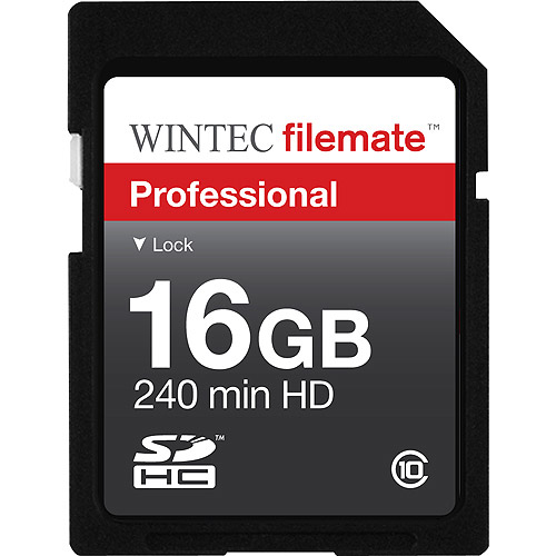 Wintec FileMate 16GB Professional SDHC Flash Memory Card Class 10