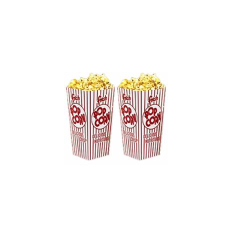 Great Northern Popcorn 100 Movie Theater  Popcorn Boxes .79 Ounce Open Top