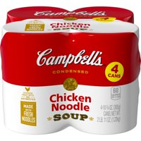Campbell's Condensed Chicken Noodle Soup, 10.75 oz Cans (Pack of 4)