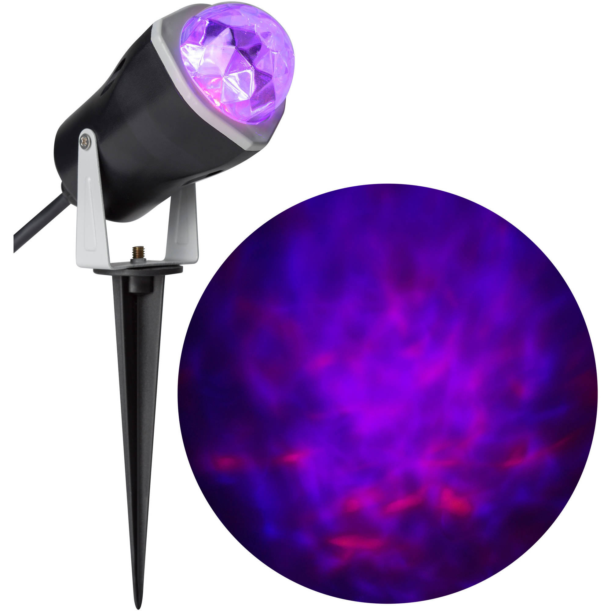 Gemmy Lightshow Projection Spot Light Fire and Ice (Purple Purple Orange) Halloween Decoration