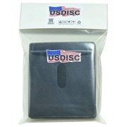 USDISC Plastic Sleeves, Double-sided 2 Disc, Black, Pack Of 5000