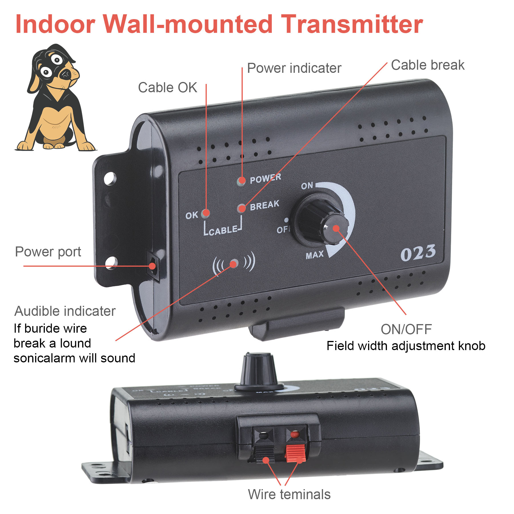 banyan underground electric dog fence system waterproof 2 shock collars for 2 dogs image 3 of