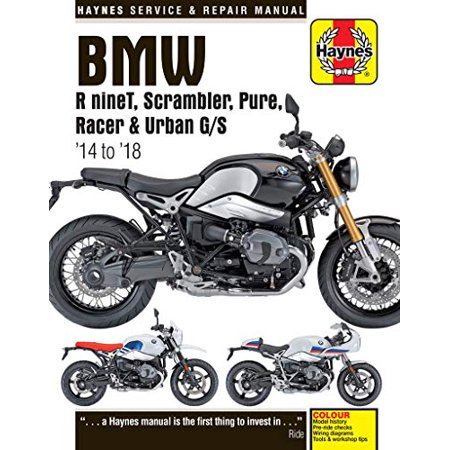 Haynes Repair Manual for BMW RnineT, Scrambler, Pure, Racer & Urban G/S,  (2014-2018)