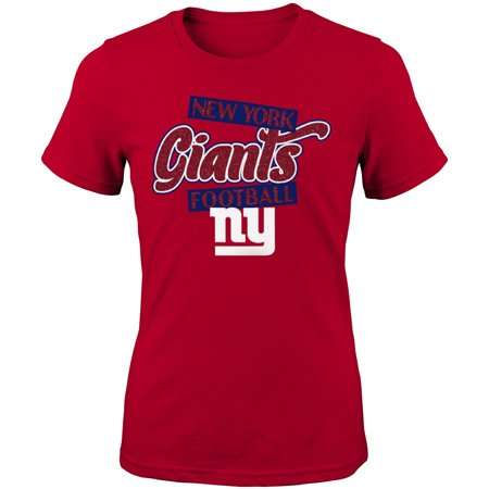 New York Giants Tattoos (Girls Youth Red New York Giants Team Glitter)