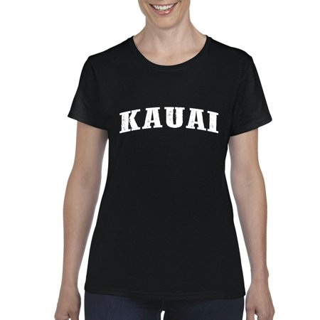 Kauai Hawaii Travel Guide What To Do In Hawaii  Beaches Near Me Hawaiian Time Womens T Shirt Tee Clothes