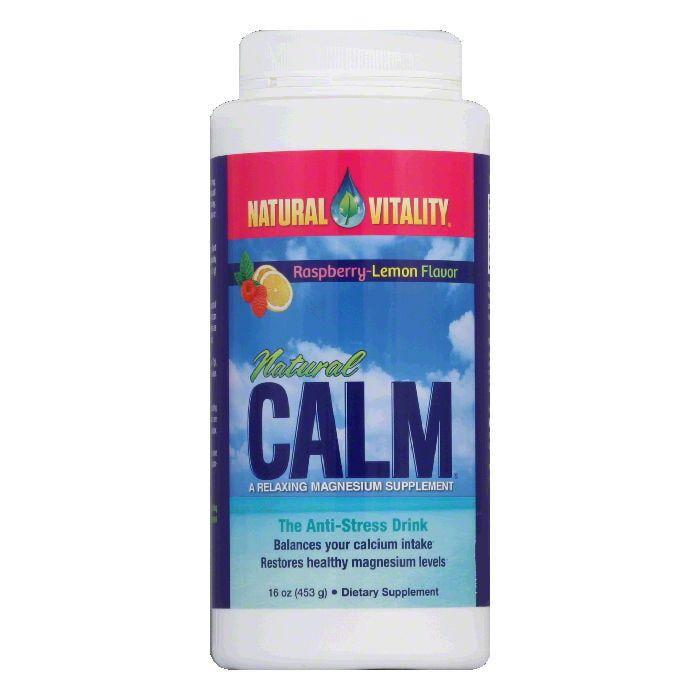 Natural Vitality Raspberry-Lemon Flavor Magnesium Supplement, 16 Oz
