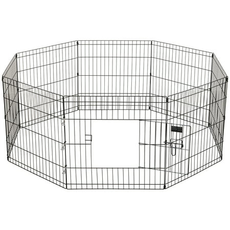 Ollieroo 24''X24'' Dog Playpen Exercise Pen Fence Pet Outdoor Indoor - Dog Exercise Pen Free Shipping