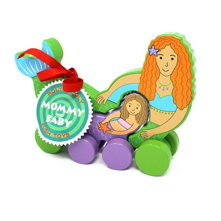 Jack Rabbit Creations Mermaid Mommy & Baby Push Pull Toy