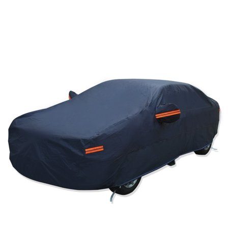 Universal Fit Car Cover Breathable Outdoor Indoor Waterproof Snow Dirt Dust Resist Proof-Fits Sedans up to 185 inches,Dark Blue