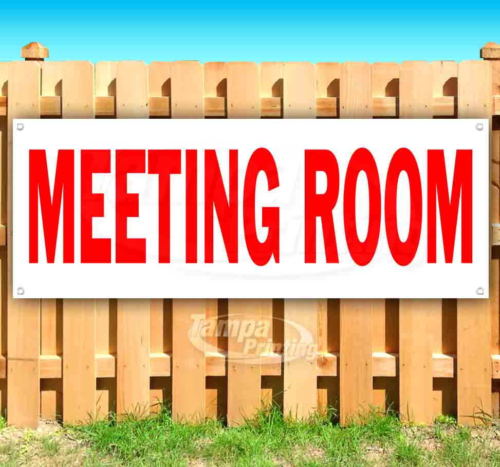 New Store Many Sizes Available Flag, Meeting Room 13 oz Heavy Duty Vinyl Banner Sign with Metal Grommets Advertising