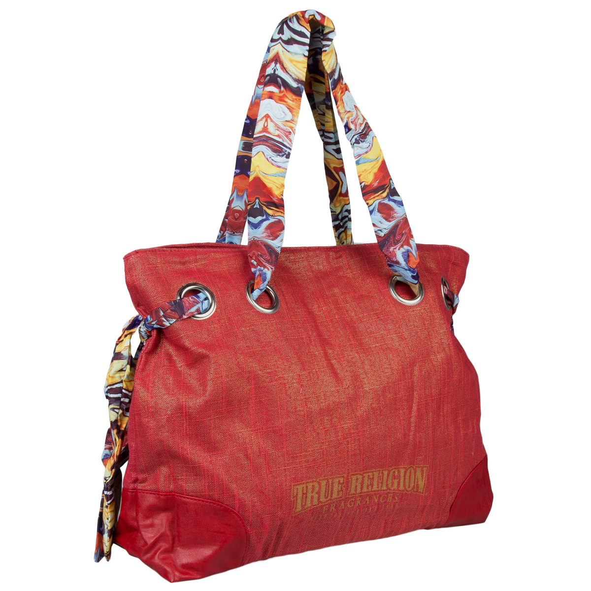 True Religion Women's Large Tote Bag Fashion Hand Purse Shoulder Shopper Travel