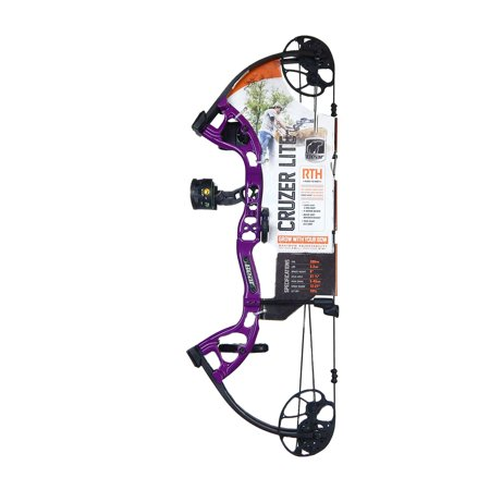 "Bear Archery Cruzer Lite 12-27"" RTH Compound Bow RH 5-45# RH Purple, A6CZL1055R thumbnail"
