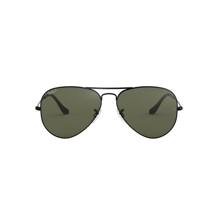 Ray-Ban RB3025 Aviator Large Metal Sunglasses (Ray Ban Clubmaster Schwarz Silber)