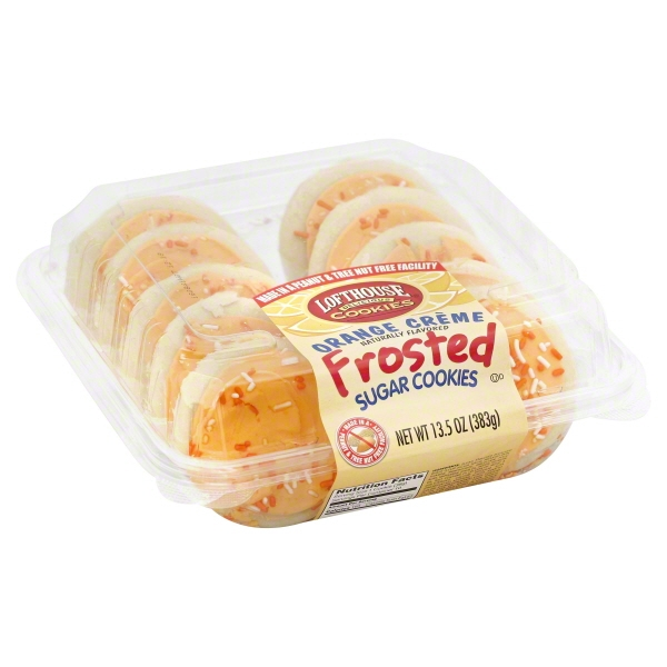 Lofthouse Orange Creme Frosted Sugar Cookies