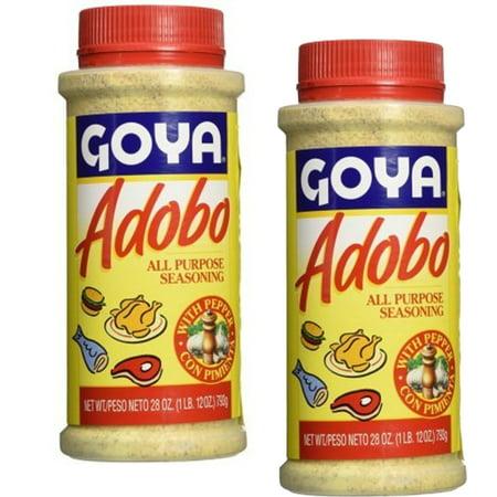 Goya Seasoning (Goya Adobo with Pepper All Purpose Seasoning, 28 OZ Large (Pack of 2))