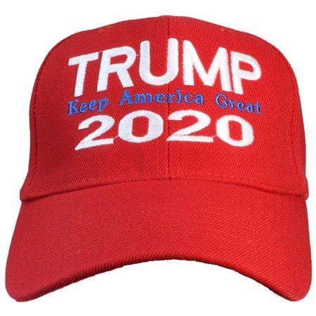 Tropic Hats Adult Embroidered Trump 2020 Keep America Great Adjustable Cap  - Red - Walmart.com d83728d1fd7
