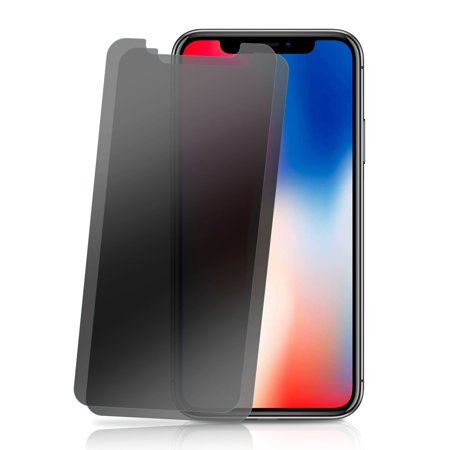 2PK - Apple iPhone X, iPhone 10 Privacy Screen Protector [High Quality Tempered Glass] by GolemGuard, Strong Hardness Anti Spy Tempered Glass Screen Protector [ Not Full Coverage]