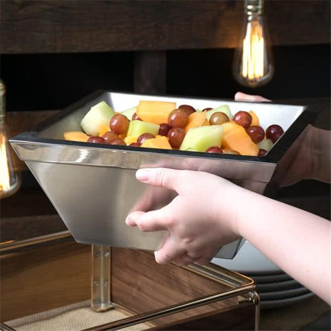 Cal Mil 3326-10-55 10 in. Square Gel-filled Stainless Steel Chill Bowl - Silver - image 1 of 1