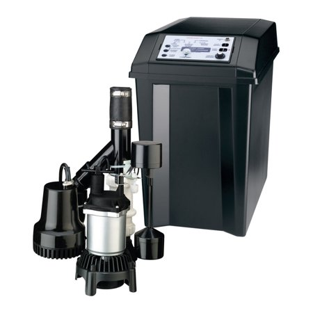 Flotec 1/3 hp 2040 gph Thermoplastic Submersible Backup Sump Pump Backup Sump Pump System