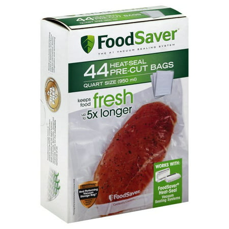 FoodSaver 1-Quart Vacuum Seal Bags, 44 Count 1 Quart Zip Top Bag