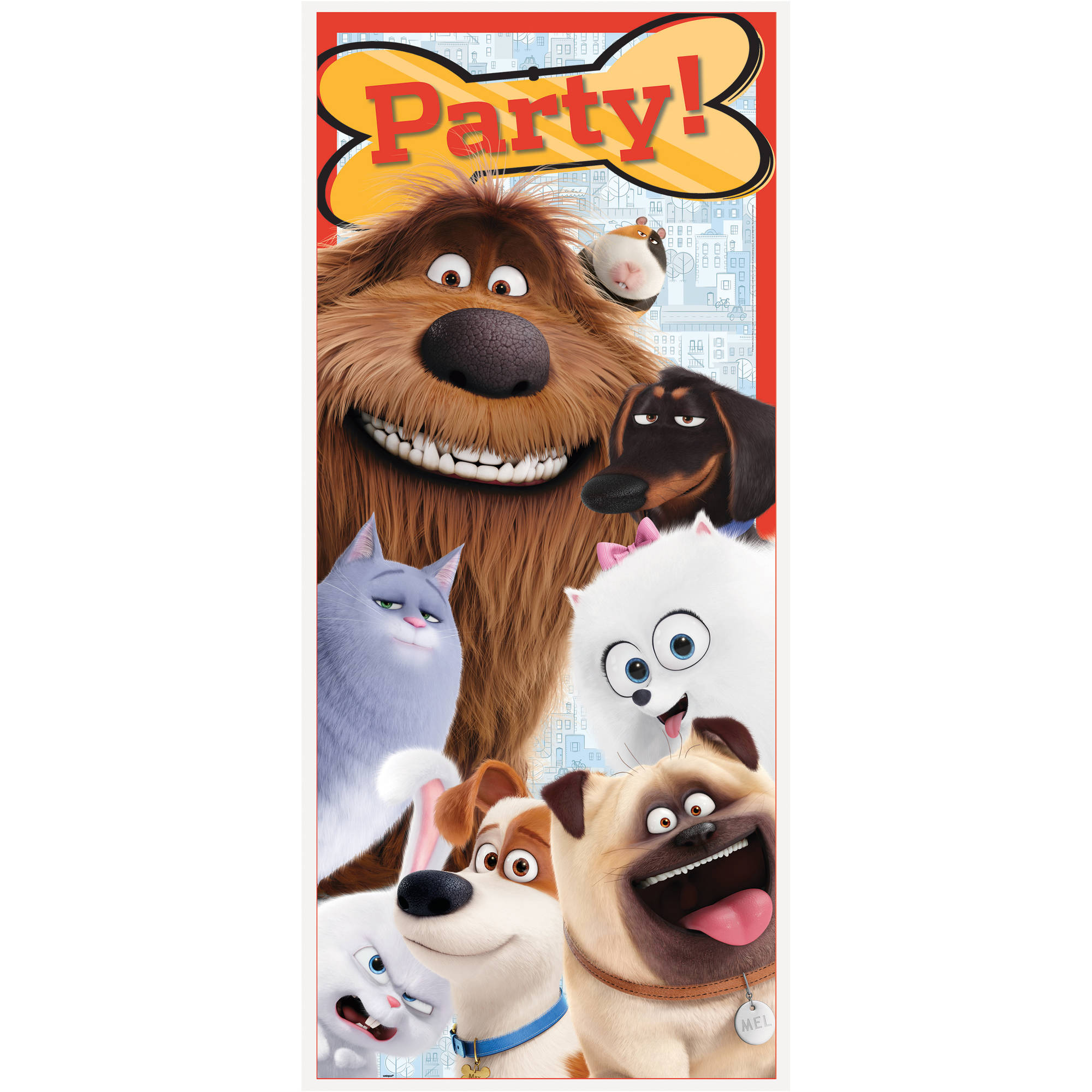 "Plastic The Secret Life of Pets Door Poster, 60"" x 27"""