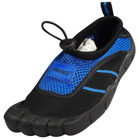 Norty - Young Mens Water Shoe - Mens beach water shoe for sand, water parks and river beds. 5 toe Aqua Wave Style. Young Mens style fits boys and teens ages 11-16 - Runs 1 Size Small