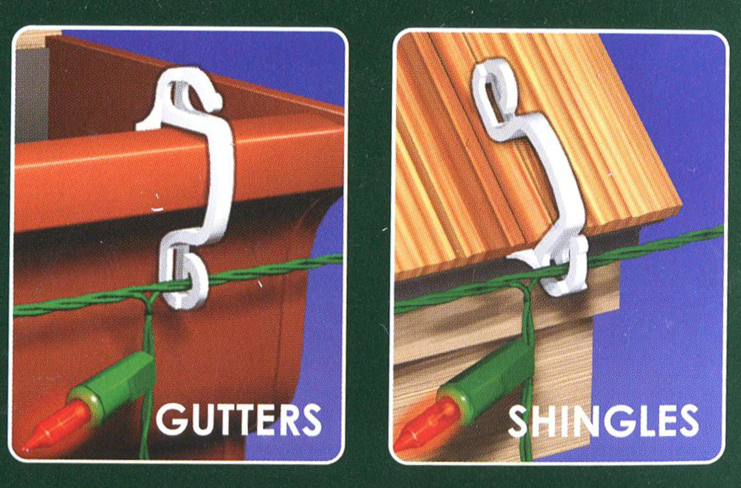 100ct Outdoor Gutter Or Siding Hooks For Hanging Icicle