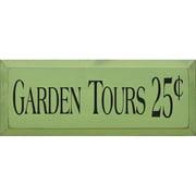 Sawdust City Garden Tours 25 Cents Textual Art