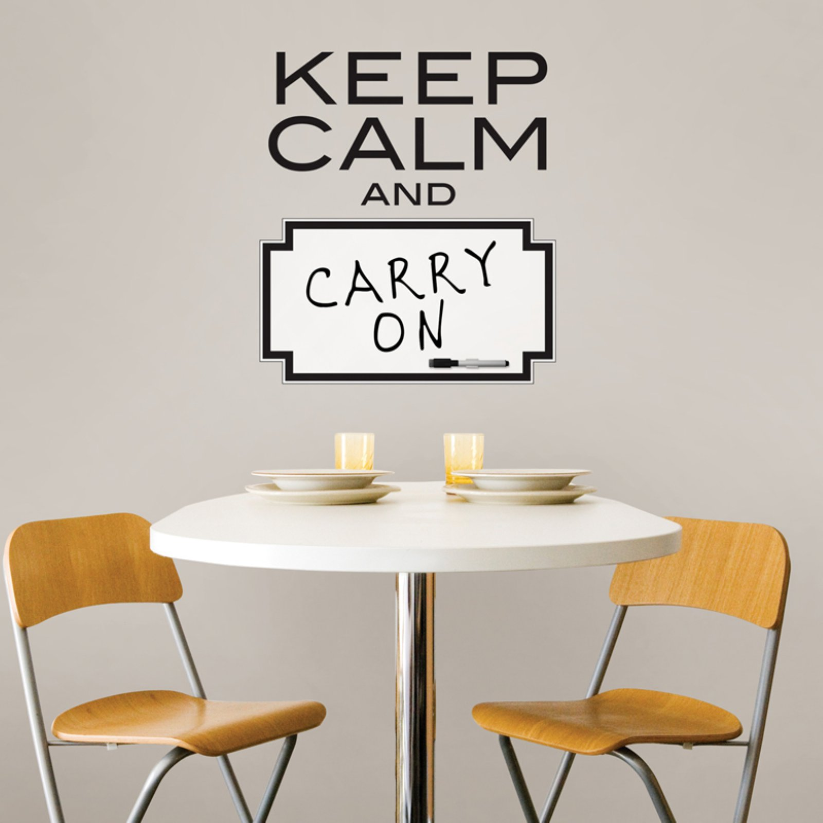 "Wall Pops ""Keep Calm"" Dry Erase Wall Quote Decal"
