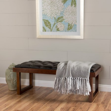 Christopher Knight Home Bayer Tufted Faux Leather Bench By