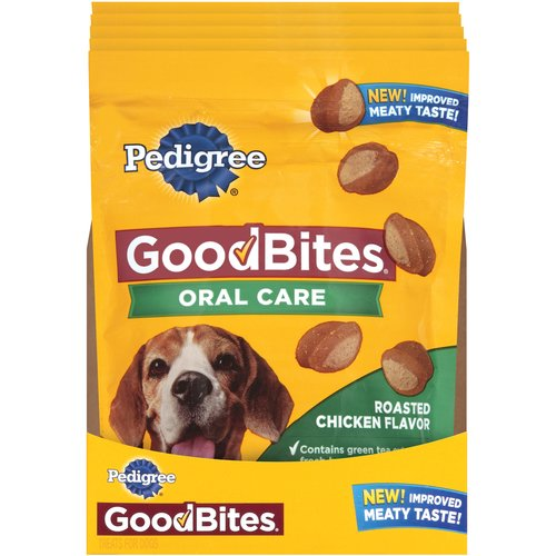 Pedigree Good Bites Oral Care Roasted Chicken Flavor Dog Treats, 6.7 oz