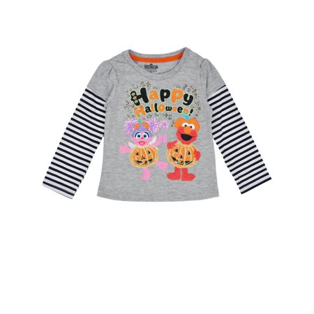 Toddler Girls Sesame Street Elmo Abby Shirt - Long - Downton Abbey Clothes For Sale