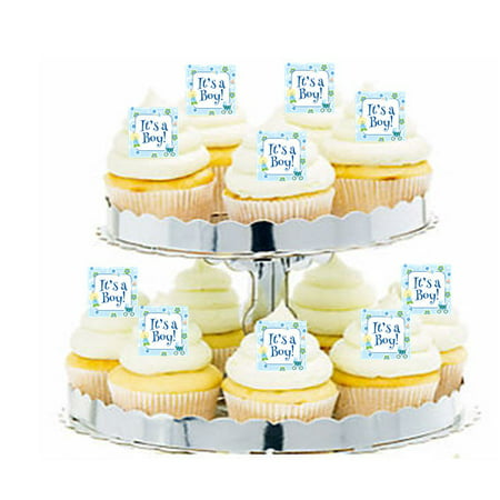24pk Baby Shower Active Baby Edible Cupcake  Decoration Toppers / - Cup Cake Decorations
