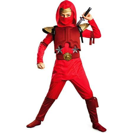 Deluxe Red Fire Ninja Costume](Red Ninja)