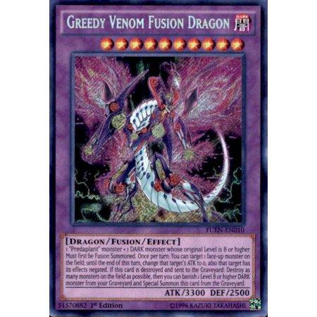 YuGiOh Fusion Enforcers Greedy Venom Fusion Dragon FUEN-EN010