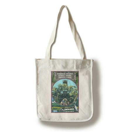 Myakka River State Park Sarasota, Florida - Montage - Lantern Press Poster (100% Cotton Tote Bag - (Sarasota Women)