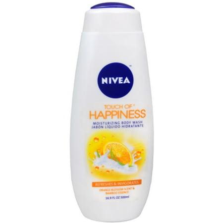 NIVEA Touch of Happiness Moisturizing Body Wash 16.90 oz (Pack of (Nivea Touch Of Smoothness Moisturizing Body Wash)