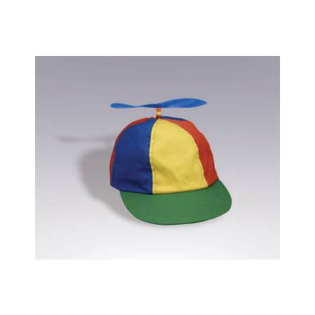 Propeller Beanie Multi-colored Hat Halloween Costume Accessory - 80s Halloween Hats