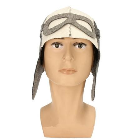 "Wool Felt Bath Sauna Hat Russian Banya Cap 100% Wool Felt White Sauna Hat for Head Protection 9.8"" x 14.2"" Dia. 8.7"" - image 5 de 5"