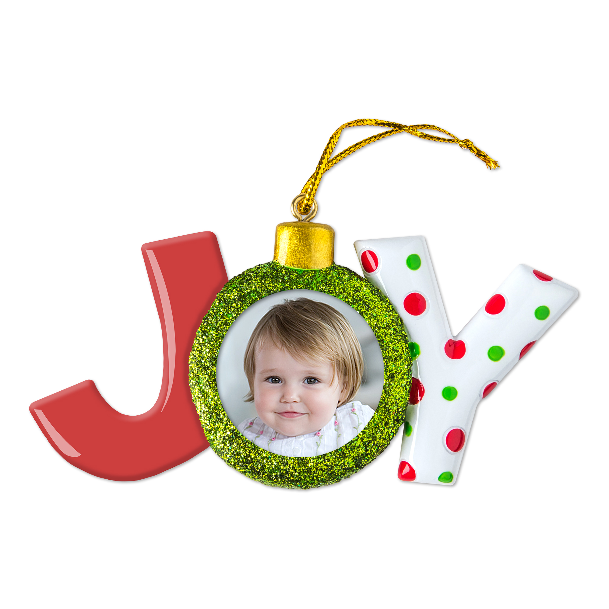 Joy Photo Ornament