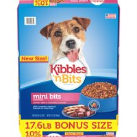 Kibbles 'n Bits Small Breed Mini Bits Savory Beef & Chicken Flavors Dry Dog Food (Various Sizes)