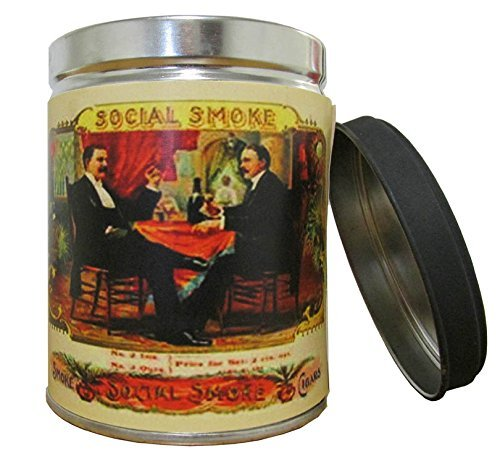 Smoke Eliminator Scented Candle in 13 oz Tin with Vintage Social Smoke Label ...