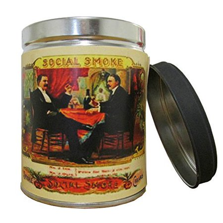Smoke Eliminator Scented Candle in 13 oz Tin with Vintage Social Smoke Label - Made in the USA by Our Own Candle Company