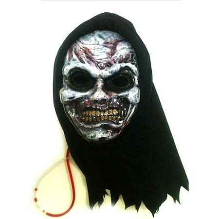 Bleeding Zombie Mask Adult Halloween Accessory](Bleeding Scream Mask)