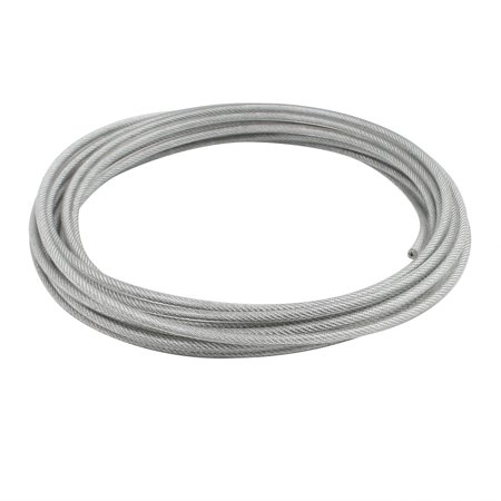 4mm Diameter Vinyl Coated Wire Rope Aircraft Cable 6 Meters Length