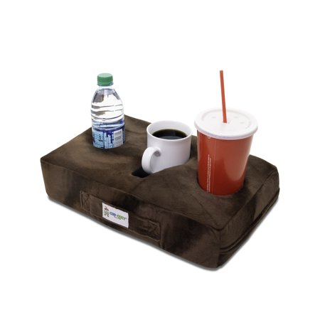 Cup Cozy Pillow (Brown)- The world's BEST cup holder! Keep your drinks close and prevent spills. Use it anywhere-Couch, floor, bed, man cave, car, RV, park, beach and (Best Tools To Keep In Your Car)