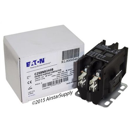 40 Amp / 2 Pole / 208-240V Coil , Eaton Cutler Hammer C25BNB240B Contactor Cutler Hammer 40 Amp