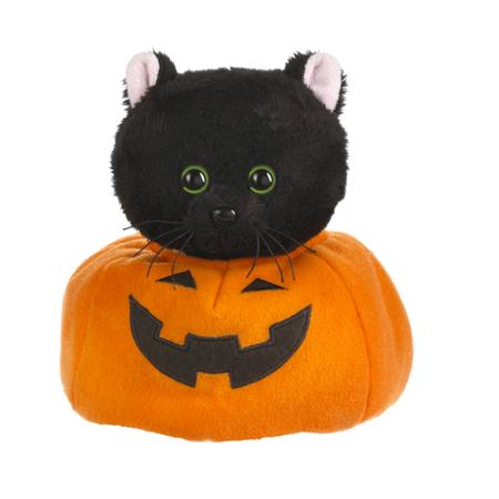 Midnight Pumpkin Cat Plush Toy - By Ganz