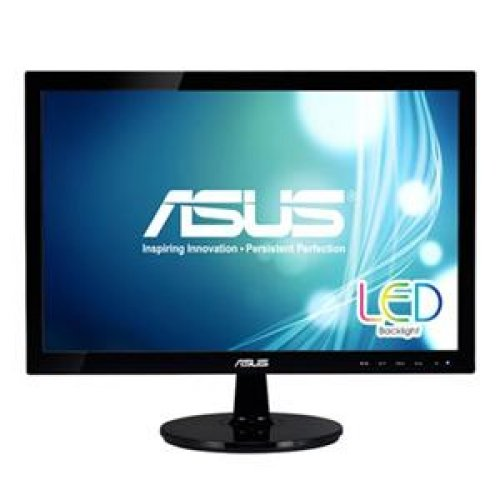 "ASUS VS197T-P - LED monitor - 18.5"" - 1366 x 768 - 250 cd/m2 - 50000000:1 (dynamic) - 5 ms - DVI-D *"